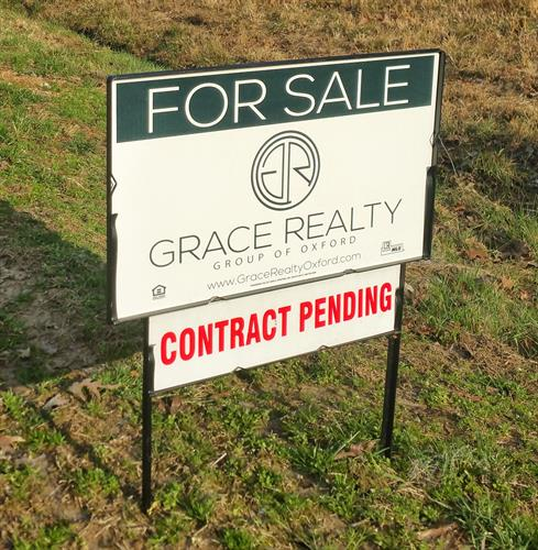 Great feeling to install that pending sign on our sellers signs in record time!