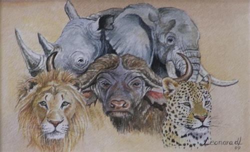 Afrca's Big Five - Leonora De Lange - South Africa