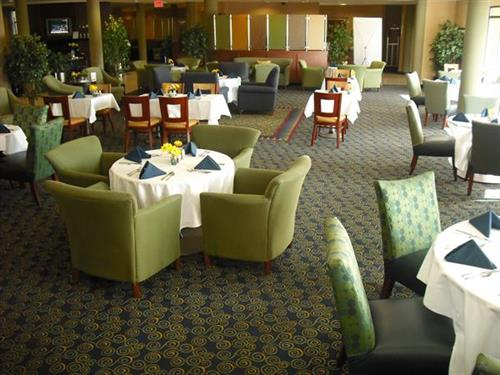Cafe Indigo restaurant and lounge open for breakfast, dinner and room service