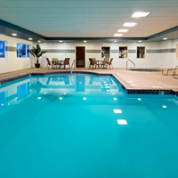 Enjoy our 24-hr indoor pool & spa!