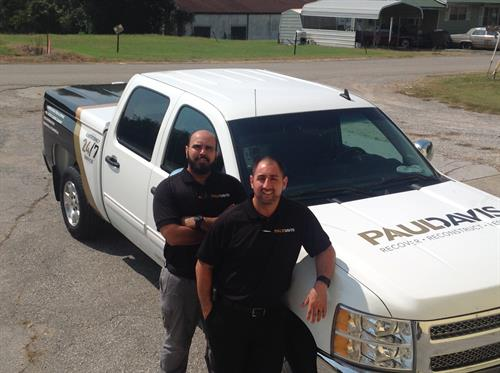 Meet our Team on the ground. Timothy Reyes (Left) Water Mitigation Associate