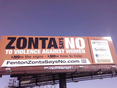 "Zonta says ""NO"" to Domestic Violence - Billboard Campaign March 2015"