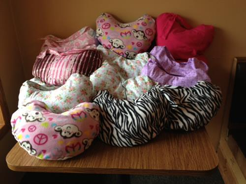Zonta Club sews over 40 Comfort Pillows for Mastectomy patients a year and are donated through the American Cancer Society