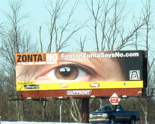 Zonta Club awareness - Billboard Campaign February 2015
