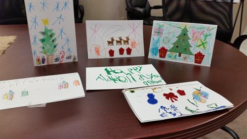 – As part of an outreach program called Comforting Cards™, local children from Chesapeake Christian School distributed homemade holiday cards to Talbot Senior Center and Park View this week. This program seeks to bridge the generational gap between children and seniors by having local children create holiday cards which are then given to seniors.