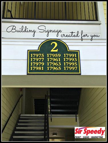 Building Signage Created Here! 813-623-5478