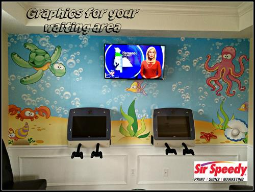 Waiting Room Wall Mural - Add Color to your space today! 813-623-5478