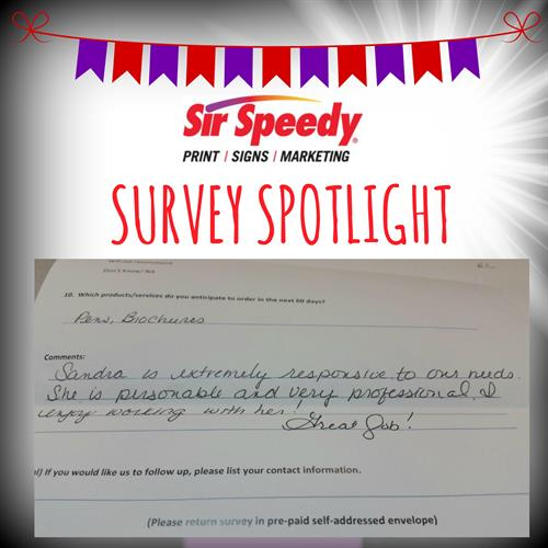 Survey Spotlight - Check out our service today!