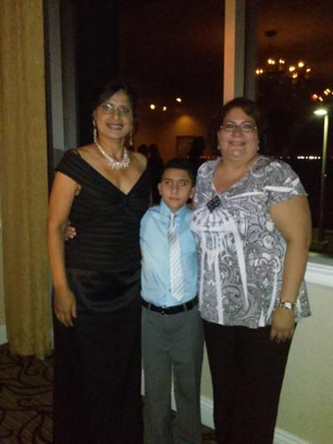 Daniel, 2013 WalkAide Recipient at the First Annual One Step At A Time Gala with Daisy Vega, Founder and Nancy, Mom.