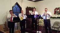 The LCCB Trumpet Guys play Holiday Music at the South Lyon Cool Yule