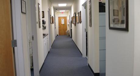 Three exam rooms, a treatment room and digital X-ray.