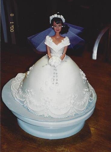 Bridal Doll Cake, this won me Best of Show at the McHenry County fair!