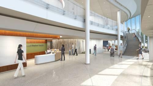 Rendering of future, modernized lobby.