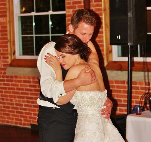 Another one from May 2015 i was DJing, this was at the end of the night one last slow dance for the happy Couple.