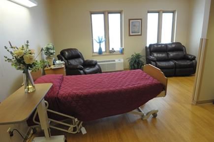 Inpatient Hospice Center - 12 private, patient suites