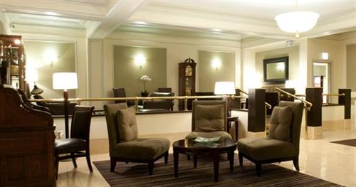 The lobby at Days Inn Chicago