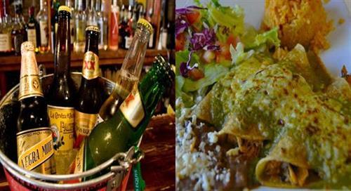 Bucket of Beer and Enchiladas en Salsa Tomatillo