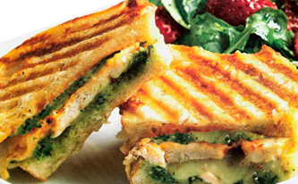 Hearty Paninis for all appetites - gluten free available
