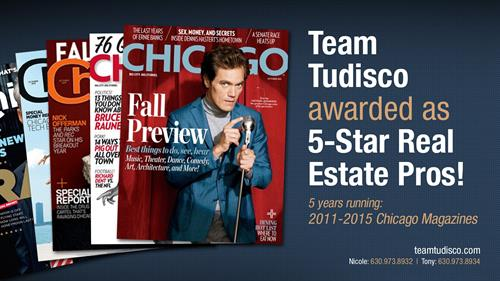 Team Tudisco Chicago 5 Star Professional for 5 Years Running