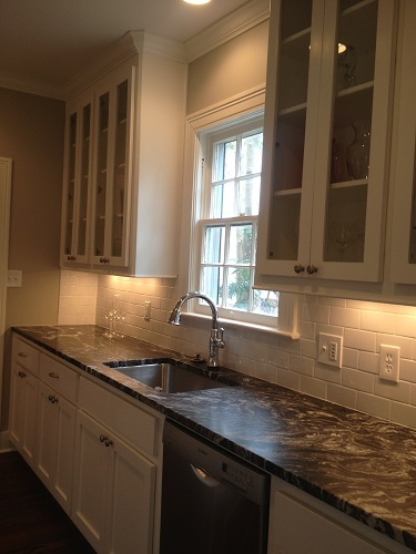 This is an image of a kitchen we renovated in Jackson, MS, in Fondren. To see before and after images of this remodel, please visit us on the web at www.homeremediesllc.com.