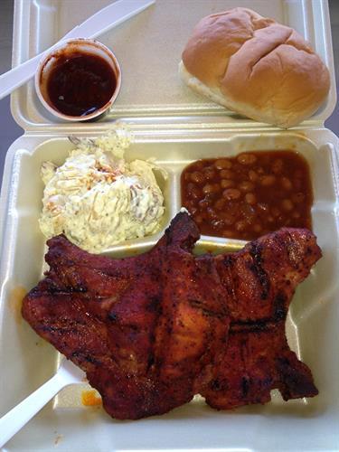 Smoked Pork Chop Plate