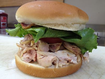 Smoked Pulled Chicken Sandwich