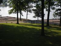 View from a site at Moutardier Campground