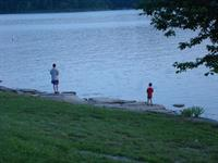 Fishing from the shoreline