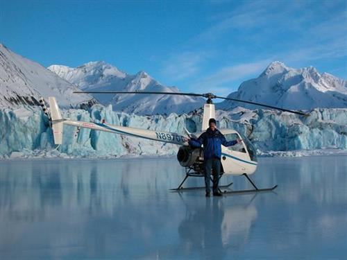 See Alaska from a birds eye view on a helicopter flightseeing tour with a glacier landing. Photo credit: Alpine Air