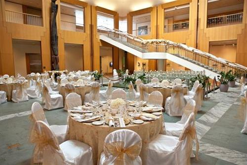 Logistics can handle all aspects of your off-site special event to include décor, centerpieces, specialty linens, transportation, entertainment, etc. Photo credit: Chris Arend