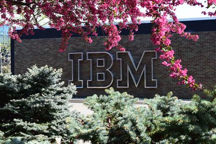 IBM logo by the lobby