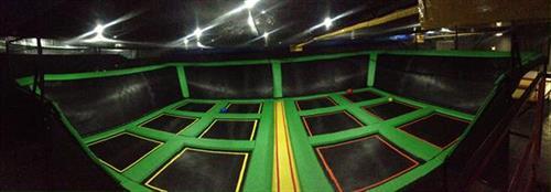 Trampoline dodgeball court