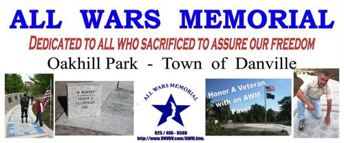 VNVDV founded & designed Danville's All Wars Memorial at Oak Hill Park