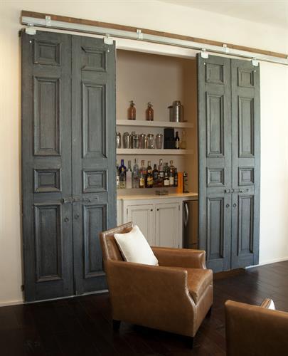 Pair of custom painted Barn Doors