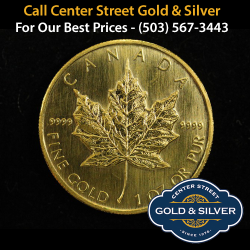 One ounce Canadian Gold Maple Leaf