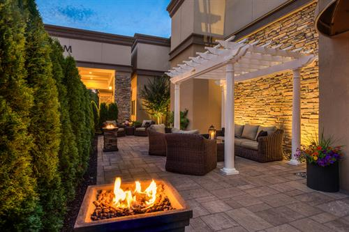 Outdoor Patio available for weddings, mitzvahs, and events