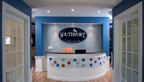 Corporate office reception graphics
