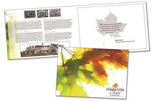 Booklet style brochure design, content and printing