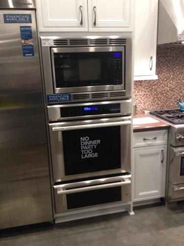 Microwave: check. Oven: check. Warming drawer: check!