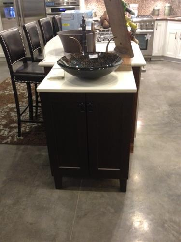 Looking for a vanity for your powder bath? We have many styles for you to look at!