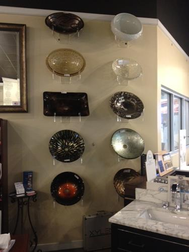 Want a different look? We offer many styles and color vessel sinks as well!