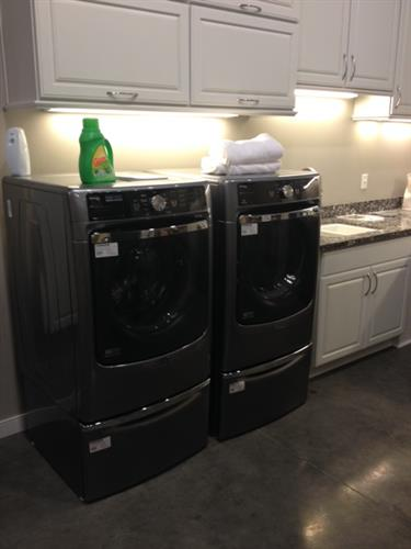 We also offer washer and dryers