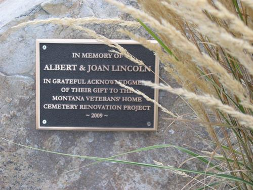 Cast Bronze Memorial Plaque 8 in x 10 in