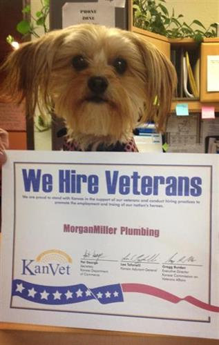 We hire Veterans!