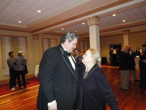 Richard Zeller, renound baritone and Jeannine Cowles, super supporter