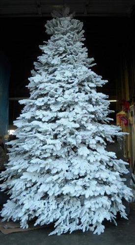 Custom Christmas tree flocking