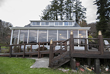 Front view of China Beach Retreat main house