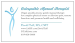 Osteopathic Manual Therapy - David Taff