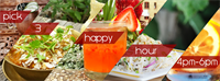 Happy Hour - 20% off craft cocktails/wine and pick three tidbits (apps)