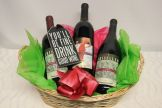 Wine, Champagne, reds, whites, tastings.  Add a bottle to a design or send a basket filled with joy.